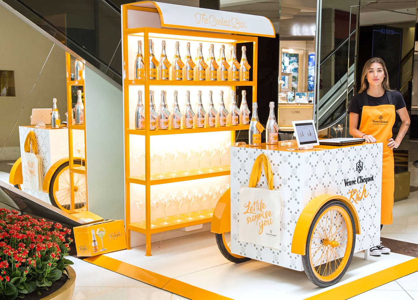 Veuve Clicquot abre pop up store no Shopping IGUATEMI - SP